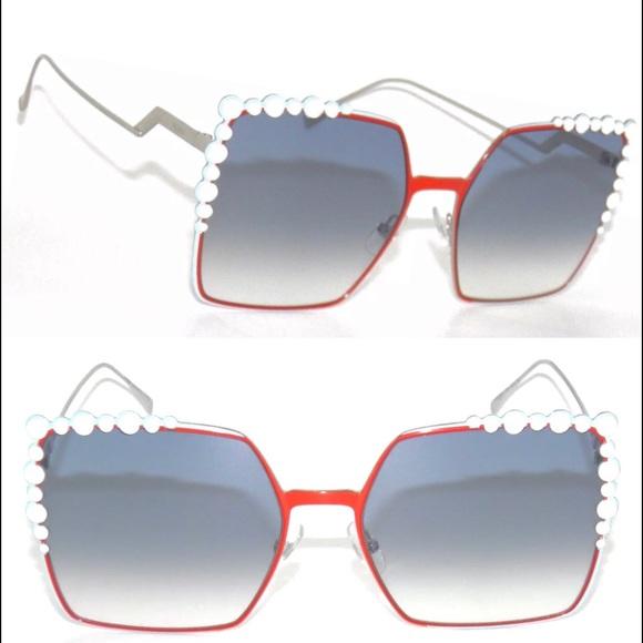 c592ce5162169 FENDI square oversized gradient lenses sunglasses